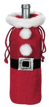 Ganz Santa Suit Wine Bottle Bag #Wine #Christmas