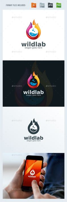Wild Lab - Flame Logo Template Transparent PNG, Vector EPS, AI Illustrator #logotype Download here: http://graphicriver.net/item/wild-lab-flame-logo-template/15548237?ref=ksioks
