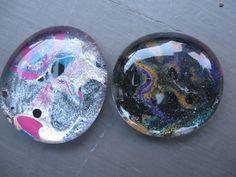 Craft Klatch: Marbled Nail Polish Glass Stones