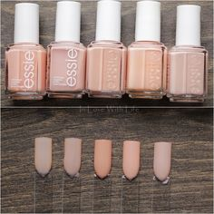 Essie: Back in the Limo // Essie: Not Just a Pretty Face // Essie: Perennial Chic // Essie: A Crewed Interest // Essie: Spin the Bottle