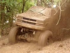 Lifted Chevy mudding