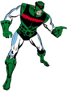 Living Laser (Early) (Marvel Comics) (Avengers enemy) white and green costume Iconic Characters, Comic Book Characters, Marvel Characters, Comic Books Art, Comic Art, Book Art, Marvel Comic Universe, Marvel Heroes, Marvel Avengers