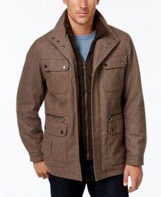 f025742a0f053 Michael Kors Michael Kors Men s Wool-Blend Field Coat with Attached Bib    Reviews - Coats   Jackets - Men - Macy s