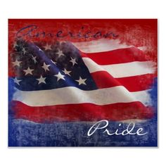 Proud American Flag Print. 4th of July