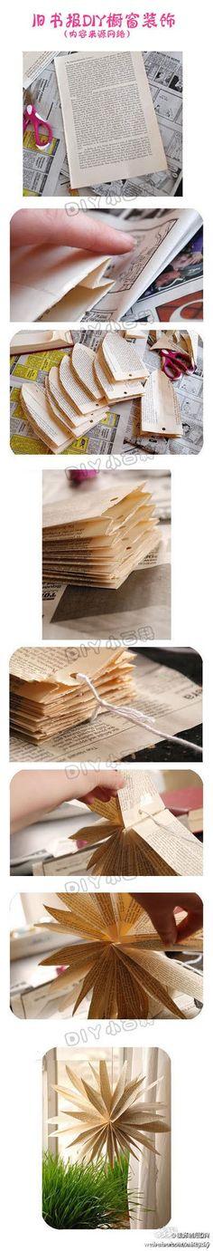 Papierstreifen aus einen alten Bucg