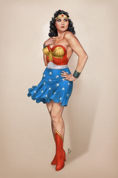 The retro super-heroines of  Stephen Langmead ooze pinup ...