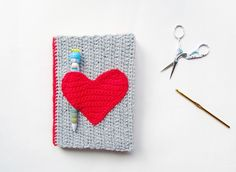 DIY Valentines Crochet Notebook Sweater