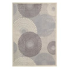 Stylishly anchor your living room or master suite with this artfully crafted rug, showcasing an oversized medallion motif in gray. P...