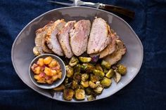 Brined Pork Loin Roast with Pineapple Chutney | KitchenDaily.com