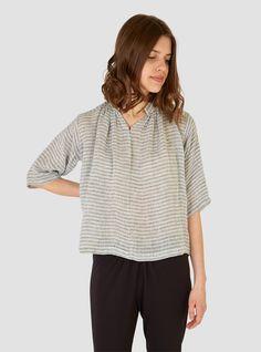 Shirred Agata Top Small French Stripe - Apiece Apart