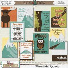 Mountain Retreat JOURNAL CARDS
