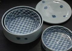 Maiko Miyaoka Clay Crafts, Blue And White, Plates, Tableware, Licence Plates, Dishes, Dinnerware, Griddles, Tablewares