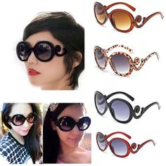 Stylish Oversized Round Frame Sunglasses