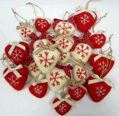 Lovely winter hearts