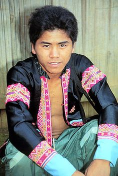 Chiang Khong, Thailand.Hmong hilltribe man in his traditional clothes.