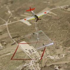 Tapis vue tactique Aérienne A Zoom figurine - PlateauxdeJeux.com