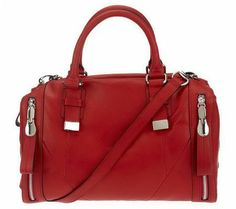 """Product image of """"As Is"""" B. Makowsky Glove Leather Convertible Zip Top Satchel"""