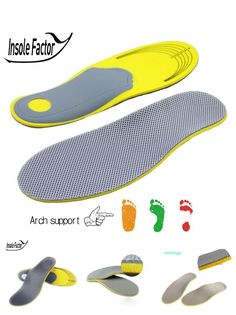 [Visit to Buy] Insole Factory EVA  Comfortable Orthotics Flat Foot Insole Arch Support Insoles Orthotic Insoles Inserts High Arch Support Pad #Advertisement