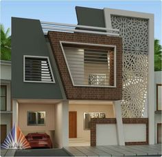 Top 40 Most Beautiful Houses 2019 - Engineering Discoveries Modern Exterior House Designs, Modern Small House Design, Modern Villa Design, Exterior Design, House Outer Design, Duplex House Design, House Front Design, House Elevation, Modern Architecture House