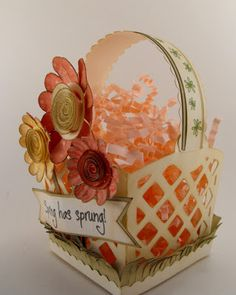 My Craft Spot: Spring Has Sprung Basket - uses Cricut Tags, Bags, Boxes and More 2