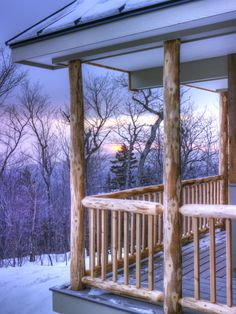 A stunning winter sunset from Stratton Brook Hut by John Orcutt, from Maine Huts and Trails