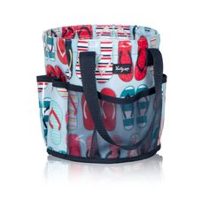 """Round-About Caddy in """"fun flops"""" (Thirty-One Gifts) for sunscreen tubes & bug spray bottles"""