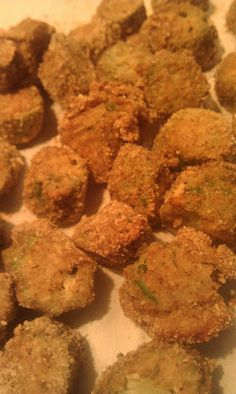 Tine's Kitchen: Baked Okra.  Although I don't like okra, I'm gonna try this for the family