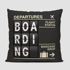 Boarding - Throw Pillow