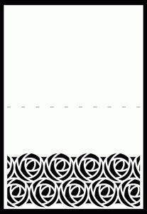 Jolie carte avec bordure originale - free  Zie sjablonen!!!!!!!!!!!!!!!!!!!