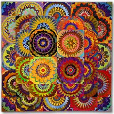 FLORAL ARRANGEMENT: Creating Fused Flower Quilts  Class by Sue Benner