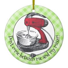 Custom color retro stand mixer Christmas ornament - retro gifts style cyo diy special idea