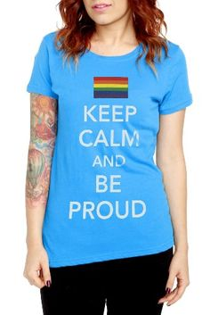 2935642562 Keep Calm And Be Proud Girls T-Shirt Movie Tees