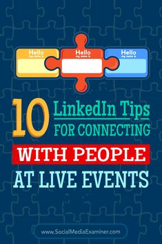 Do you want to strengthen the connections you make at conferences?  As a business-centric social network, LinkedIn is valuable for connecting with peers, colleagues, and prospects before, during, and after conferences.  In this article, you'll discover 10 tips for using LinkedIn to connect with people at conferences and events. Via @smexaminer.
