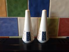 "1950s Beswick ""Apollo"" Pattern Salt & Pepper Pots."