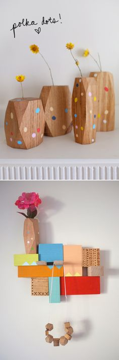 stampelstudio Woodworking Projects, Beautiful Things, Sculptures, Crafting, Dots, Diy Crafts, Models, Studio, Pretty