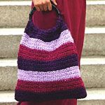 Easy-to-crochet striped bag - Canadian Living