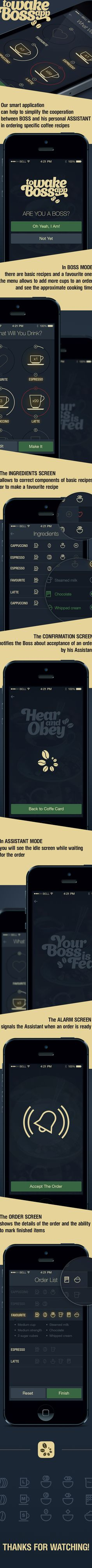 To Wake Boss App on Behance