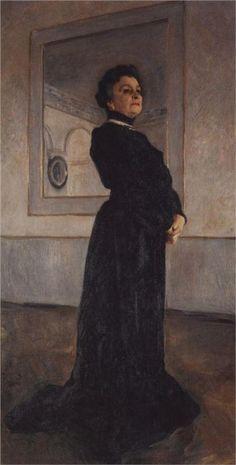 Valentin Serov (Russian 1865–1911) [Impressionism, Realism, Peredvizhniki, Portraits] Portrait of Maria Nikolayevna Yermolova, 1905. Tretyakov Gallery, Moscow, Russia.