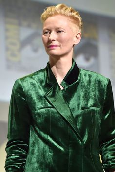 "San Diego Comic-Con 2016: Tilda Swinton in Haider Ackermann at the ""Doctor Strange"""" Panel"
