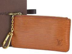 Auth LOUIS VUITTON Brown Epi Leather Pochette Cles Coin Case Purse M63803 185480