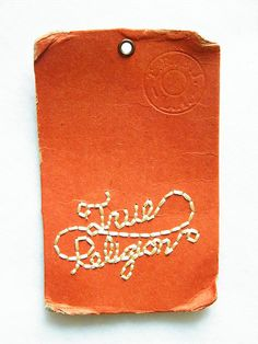 True Religion swing tags part two by Neville Trickett, via Flickr