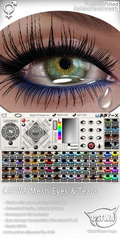 Second Life Marketplace - #CATWA Animated Eyes & Tears