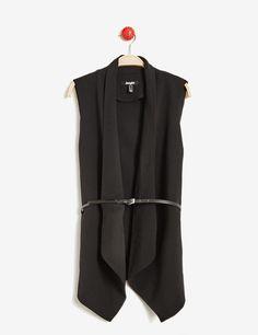 Veste sans manches noire femme • Jennyfer