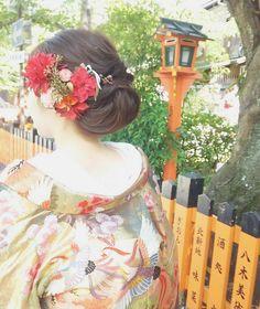柔らかアップスタイル  #色打ち掛け#ウエディング #祇園#フォトウエディング#ロケーションフォト#ヘアアレンジ#ヘアメイク #前撮り#グルメ部 #同じ名前の花嫁さん♡