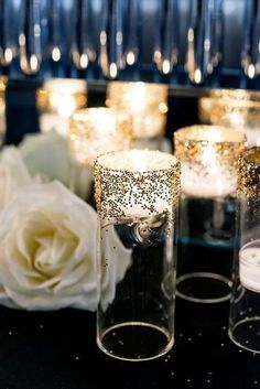 55 Elegant Navy And Gold Wedding Ideas | HappyWedd.com, Unique Wedding Ideas, Wedding Decor, Candle Light Ambiance, DIY Weddings, Wedding on A Budget, Wedding Color Schemes, Navy and Gold Weddings #navyandgoldweddings #weddingdecorationsunique
