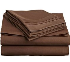 74% Discount on King Size Chocolate Brown Sheet Set Deep Pockets - http://www.amadiscountfinder.info/?p=2501
