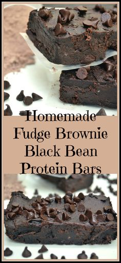 A healthy, easy to make, vegan homemade Chocolate Fudge Brownie Black Bean Protein Bar. Delicious - so good you'll forget it's good for you!