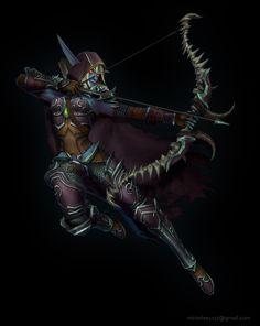ArtStation - World of Warcraft Fan Art - Sylvanas Windrunner (Legion armor version), Mirim Lee
