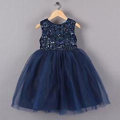 Nieuwe Blauw Prinses Meisje Feestjurken Bloem Lovertjes Tutu stijl Trouwjurk voor Kerst meisjes kleding 3-7 jaar