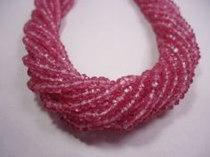 Super-Quality-Topaz-Pink-Coated-4-4-5mm-Micro-Facet-Rondelle-Beads-Strand-13-034